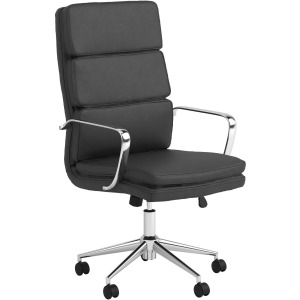 High Back Upholstered Office Chair Black