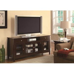 TV Stands CONNECT-IT TV Console in Dark Walnut Finish