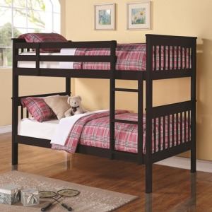 Bunks Twin Over Twin Bunk Bed with Full Length Guard Rails