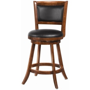 Upholstered Swivel Counter Height Stool - Chestnut & Black