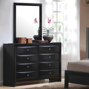 Briana 8 Drawer Dresser & Vertical Mirror