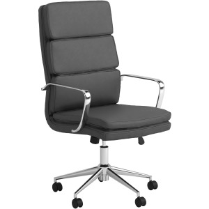 High Back Upholstered Office Chair Grey