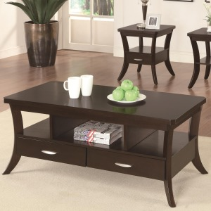 Occasional Group Coffee Table with Flared Legs and 2 Drawers