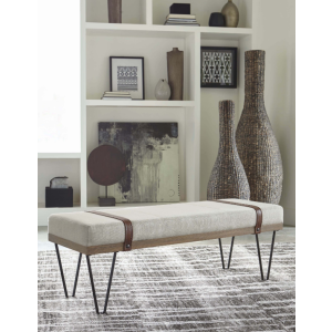 Scott Living Beige & Black Bench