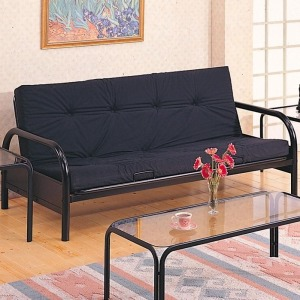 Futons Casual Metal Futon Frame and Mattress Set