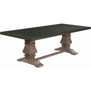 Rustic Amber Dining Table
