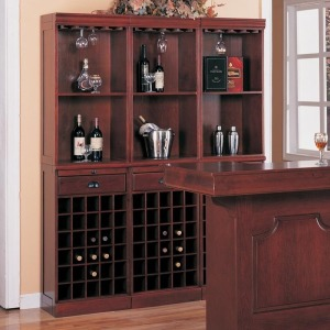 Lambert Traditional 3-Piece Wine Wall Bar Unit