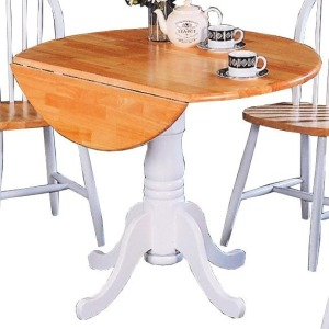 Damen Round Pedestal Drop Leaf Table