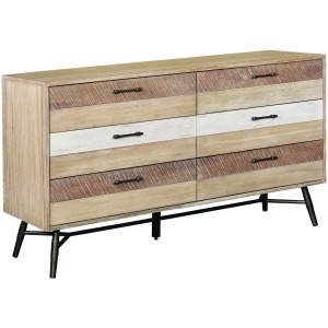Marlow 6-Drawer Dresser Rough Sawn Multi