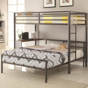 Bunks Metal Twin-over-Full Workstation Loft Bed