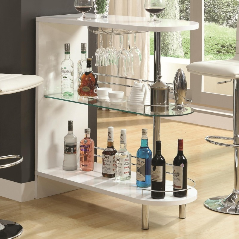 Bar Units and Bar Tables Contemporary White Bar Table