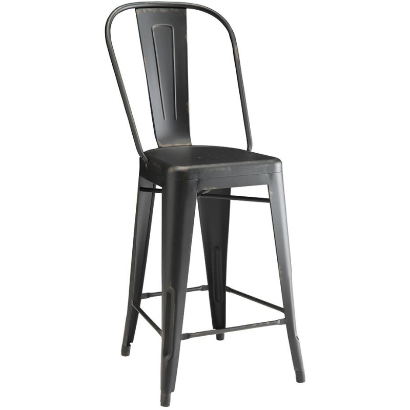 Lahner Traditional Black Counter Chair