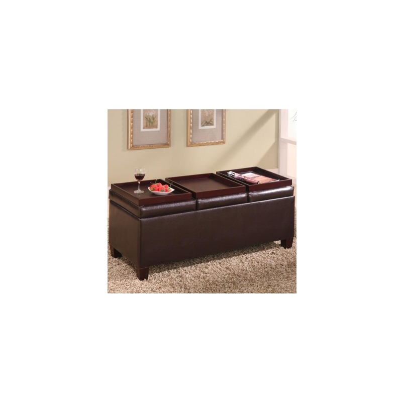 Astounding Ottomans Contemporary Faux Leather Storage Ottoman With Ibusinesslaw Wood Chair Design Ideas Ibusinesslaworg