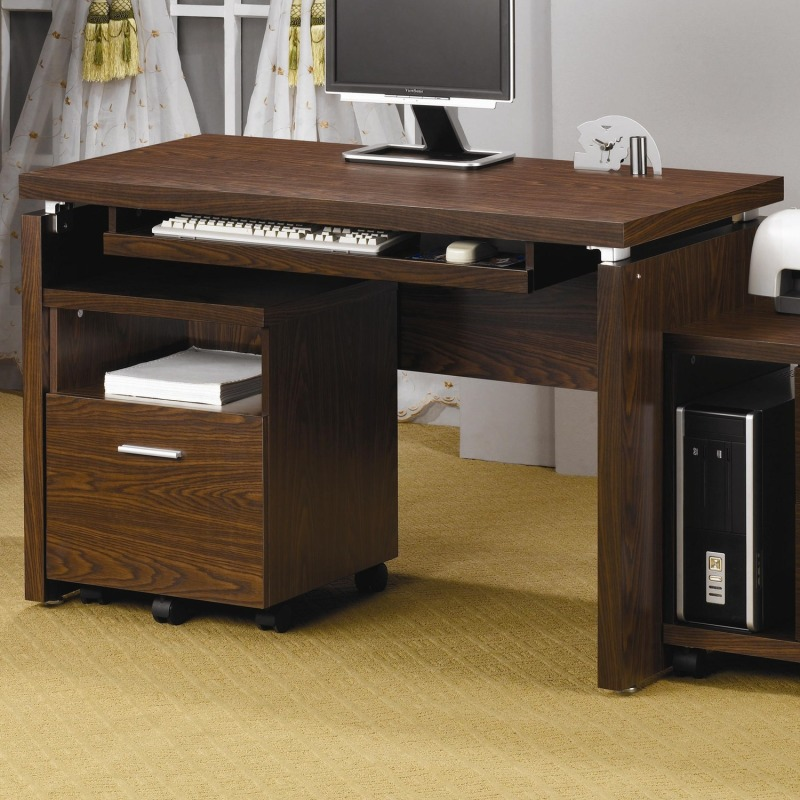 L Computer Desk With Keyboard Tray