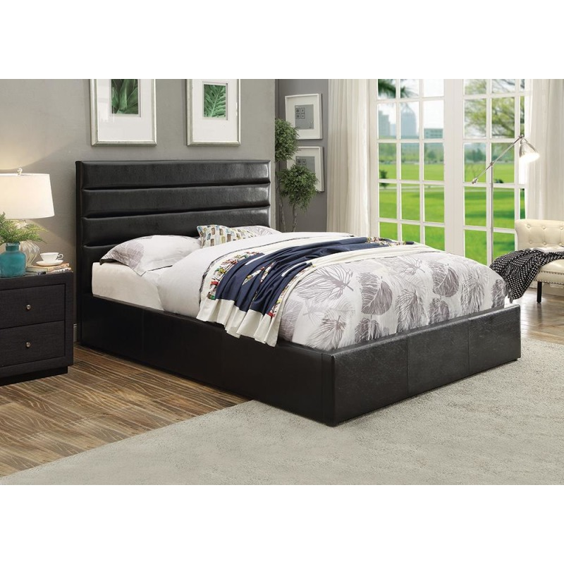 Riverbend Casual Black Queen Storage Bed By Coaster Furniture 300469q Deets Furniture