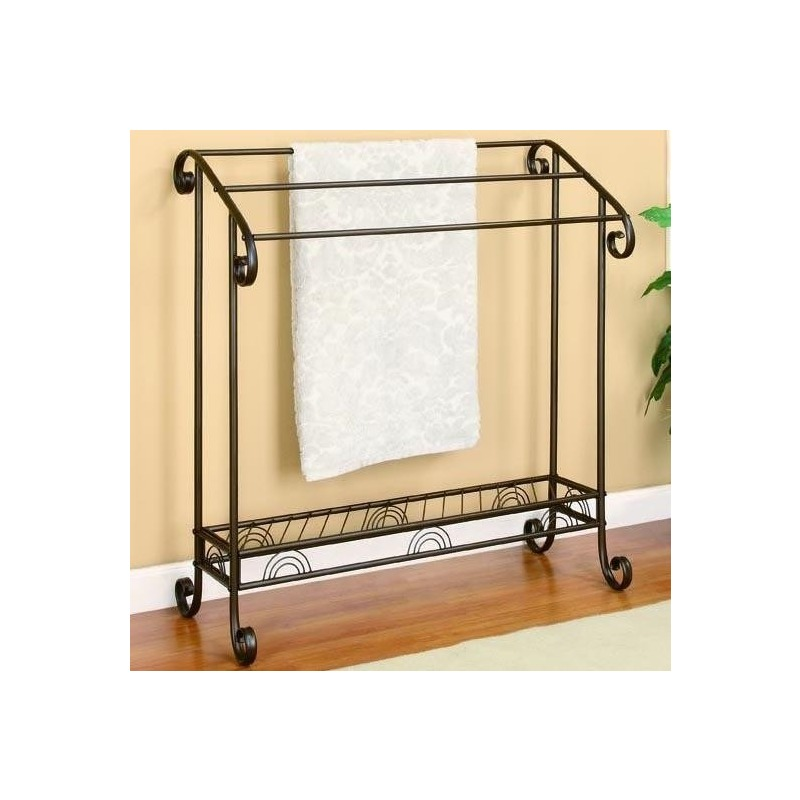 Accent Racks Dark Bronze Metal Towel Rack