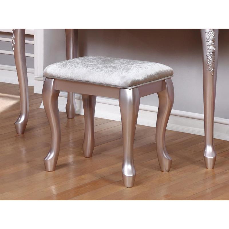 Caroline Metallic Lilac Vanity Stool