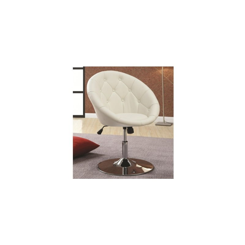 Superb Dining Chairs And Bar Stools Contemporary Round Tufted White Caraccident5 Cool Chair Designs And Ideas Caraccident5Info