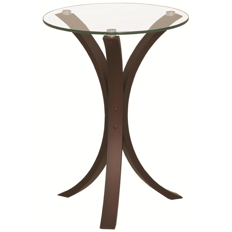 Accent Tables Snack Table w/ Glass Table