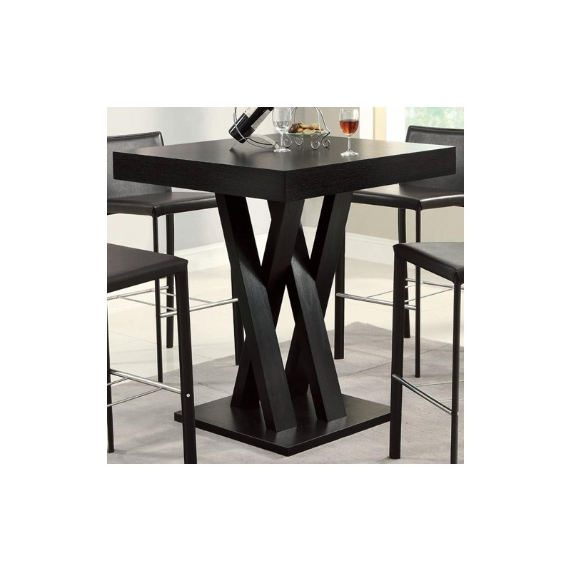 Bar Units and Bar Tables Crisscross Bar Table with Square Table Top