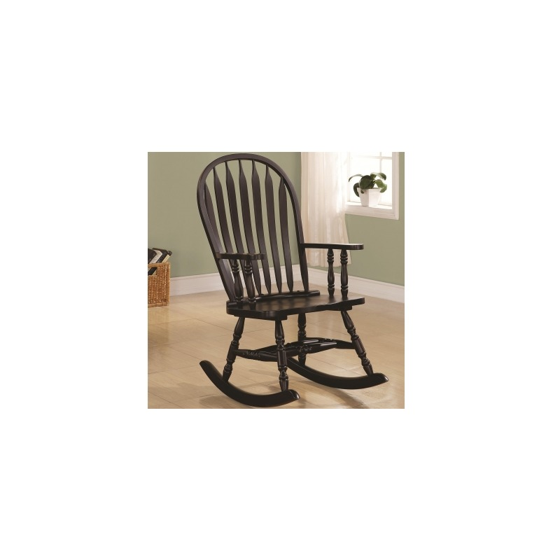 Rockers Transitional Rocking Chair in Black Finish