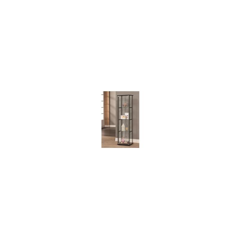 Curio Cabinets 4 Shelf Contemporary Glass Curio Cabinet