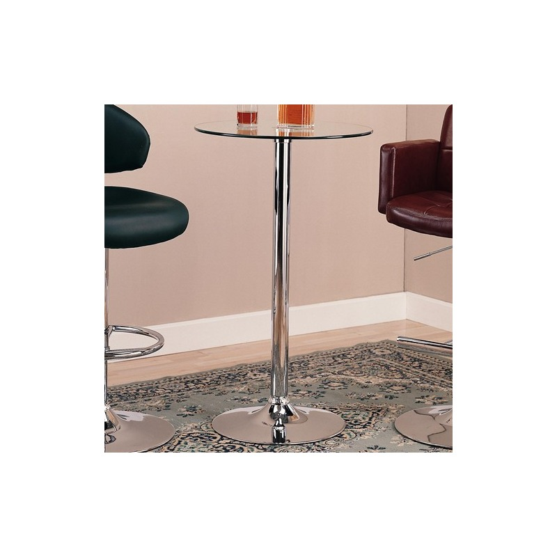 Bar Units and Bar Tables Round Bar Table with Chrome Base