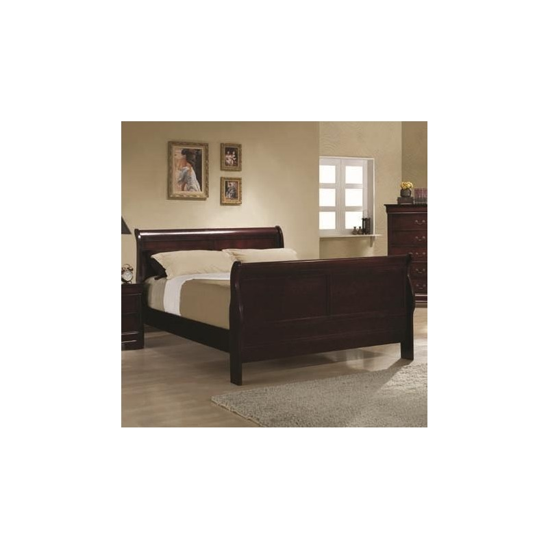 Louis Philippe Twin Sleigh Panel Bed