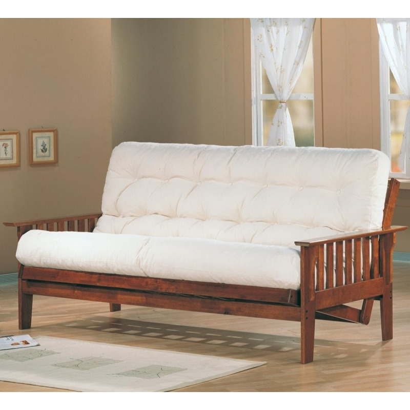 Futons Casual Futon Frame with Slat Side Detail