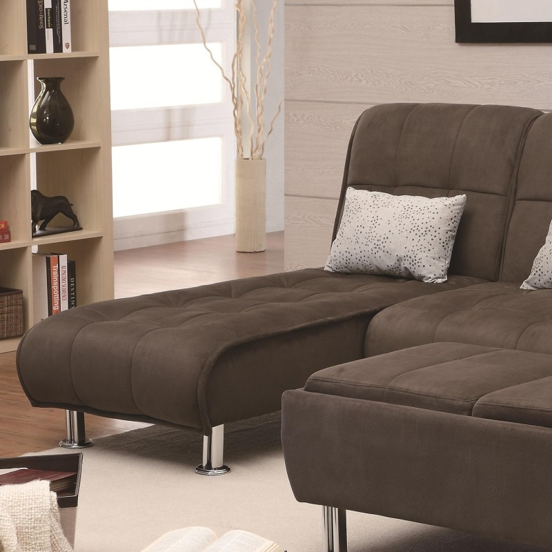 Sofa Beds Casual Styled Living Room Chaise Sleeper