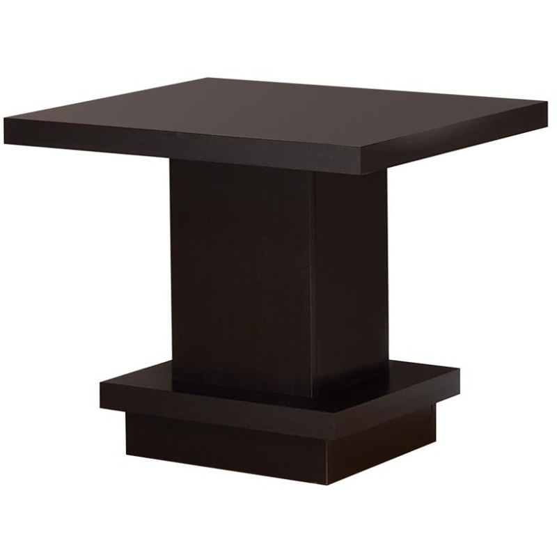 Cappuccino Wood Top Side Table