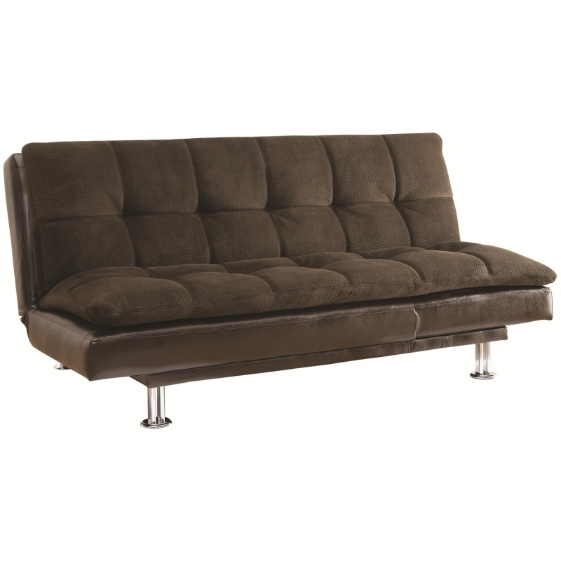 Sofa Beds Millie Sofa Bed with Chrome Legs and Casual Style