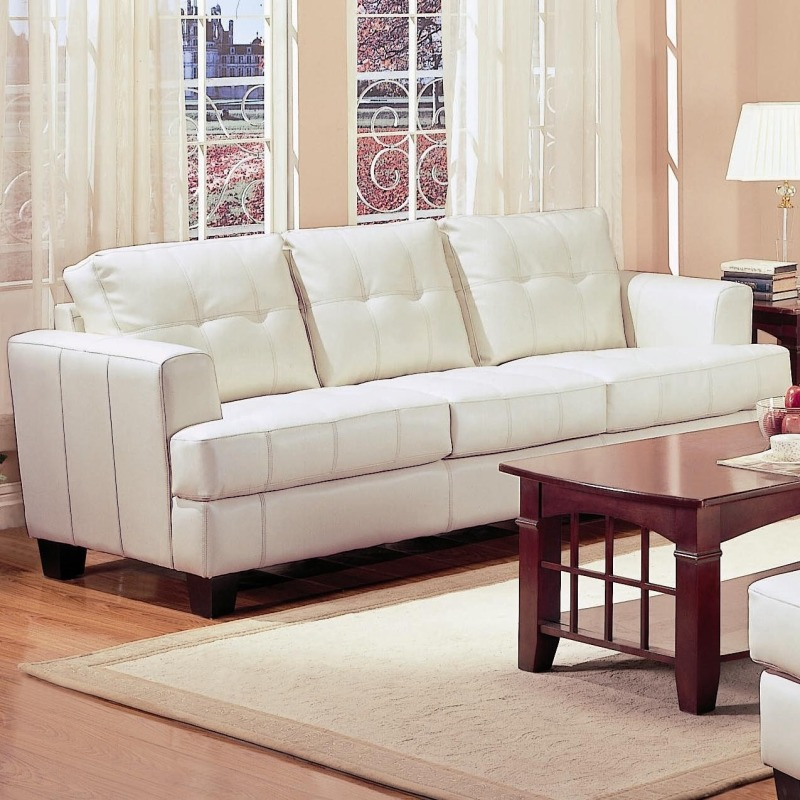 Samuel Contemporary Leather Sofa