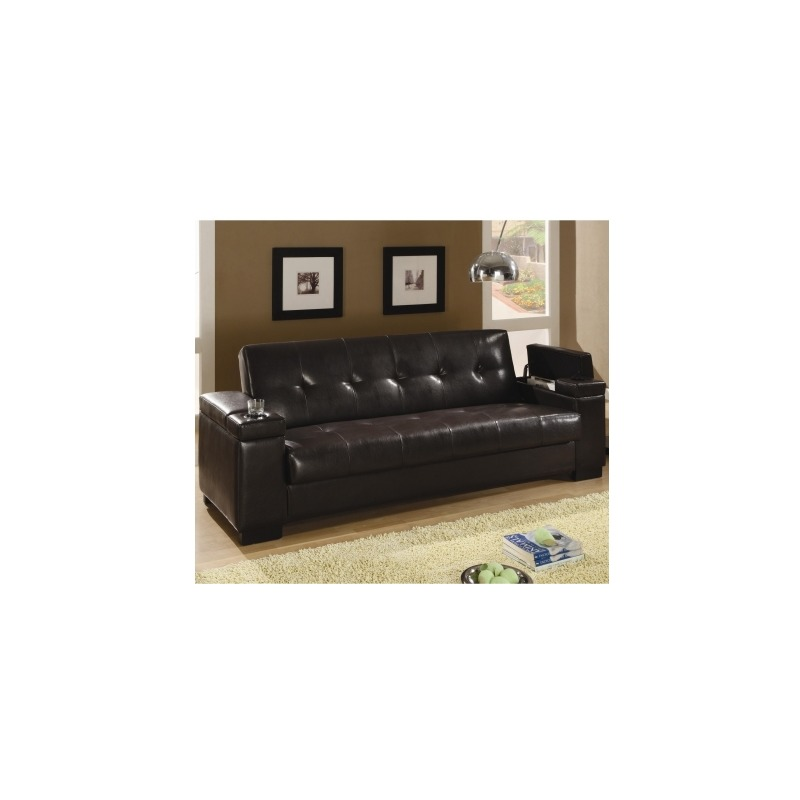 Magnificent Sofa Beds Faux Leather Convertible Sofa Sleeper With Storage Machost Co Dining Chair Design Ideas Machostcouk
