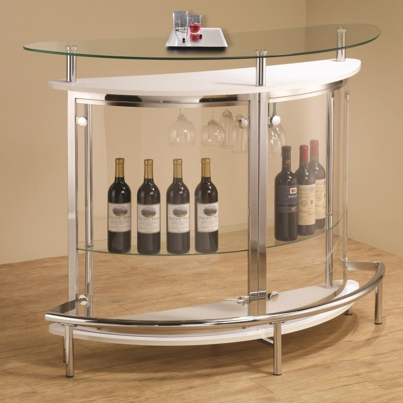 Bar Units and Bar Tables Contemporary Bar Unit with Clear Acrylic Front