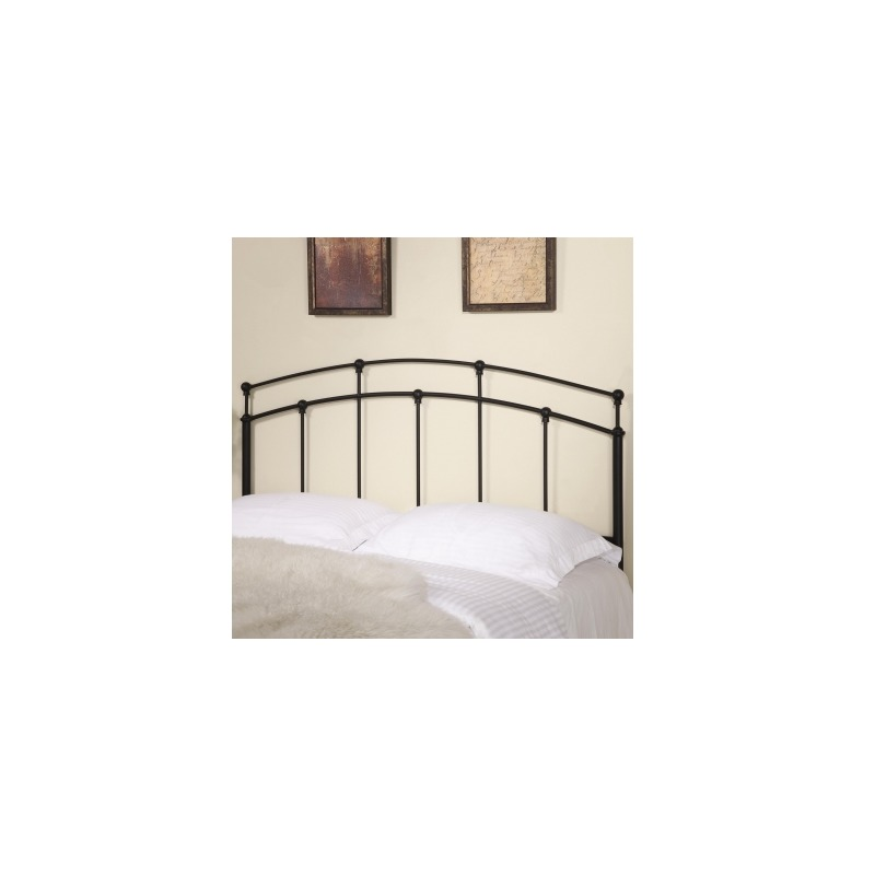 96ddeee014b8f7 Iron Beds and Headboards Full/Queen Black Metal Headboard by Coaster ...