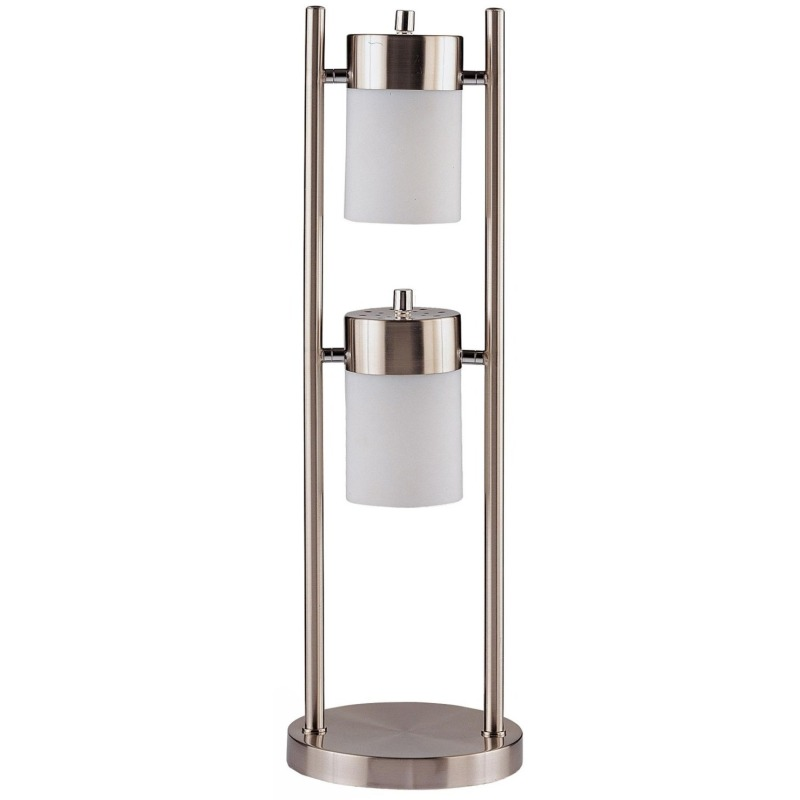 Table Lamps Contemporary Table Lamp with 2 Adjustable Swivel Lights