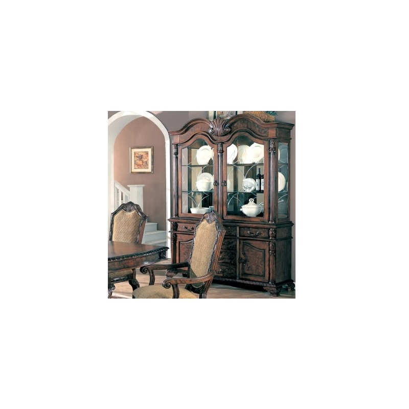 Saint Charles Buffet and Hutch with Two Glass Doors