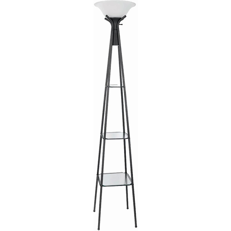 Contemporary Charcoal Black Lamp