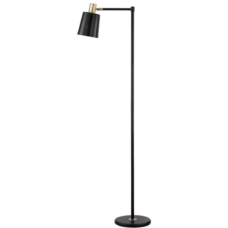 Retro Black and Gold Floor Lamp