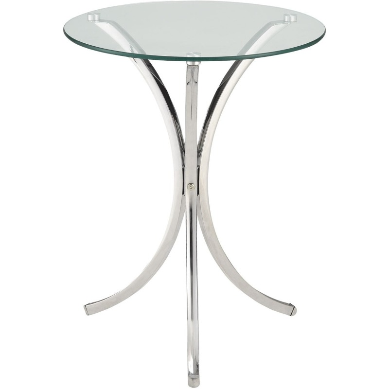 Accent Tables Clear Tempered Glass Accent Table