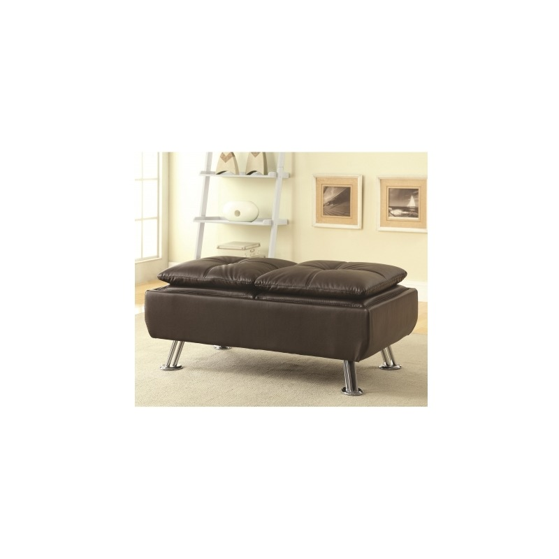 Sofa Beds Ottoman with Chrome Legs