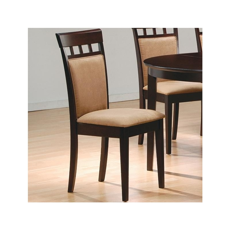 Mix & Match Upholstered Back Panel Side Chair with Fabric Seat