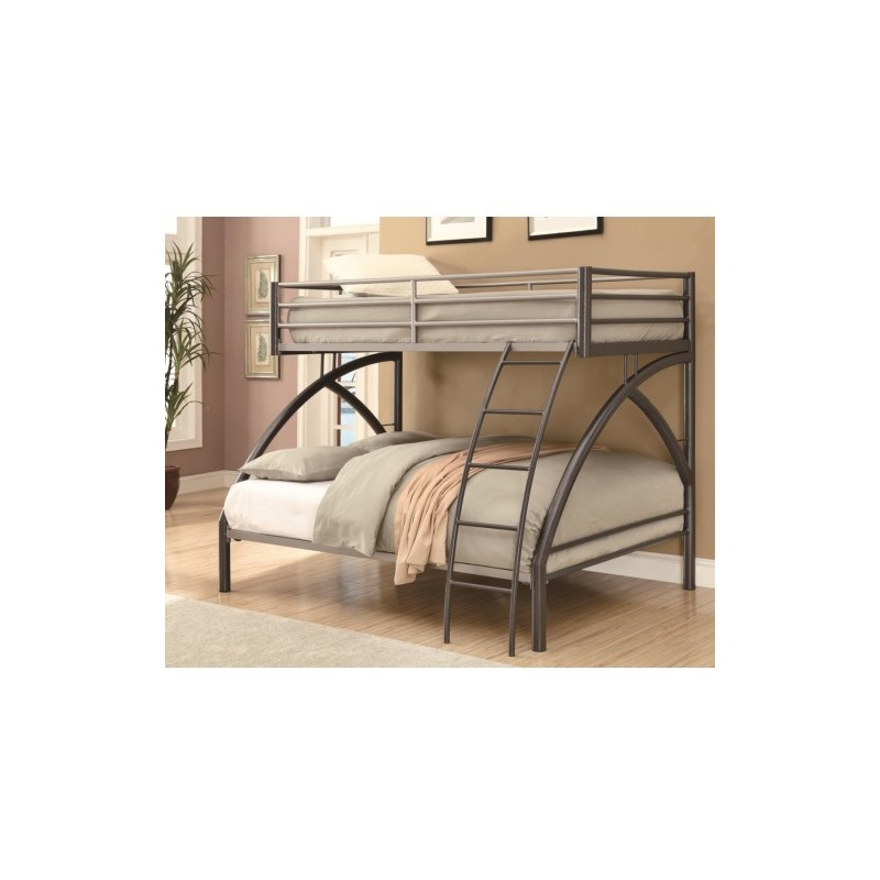 Bunks Twin-over-Full Contemporary Bunk Bed
