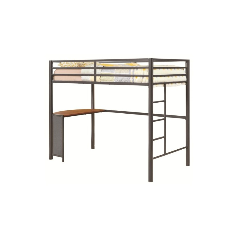 Bunks Twin Metal Workstation Loft Bed