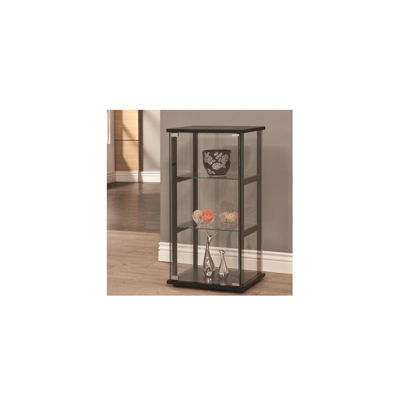 Curio Cabinets 3 Shelf Contemporary Glass Curio Cabinet
