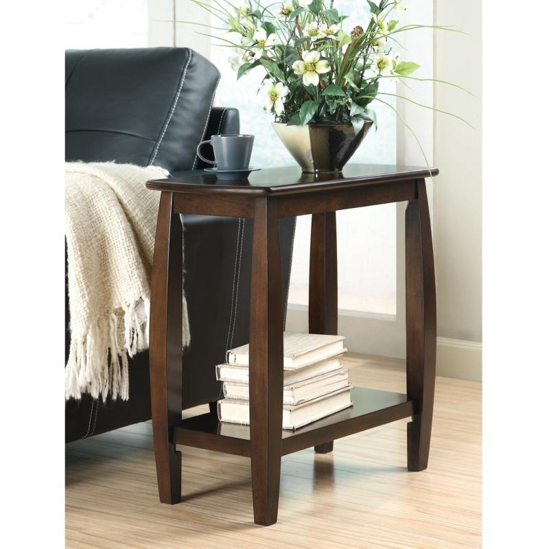 Accent Tables Contemporary Bowed Leg Chairside Table