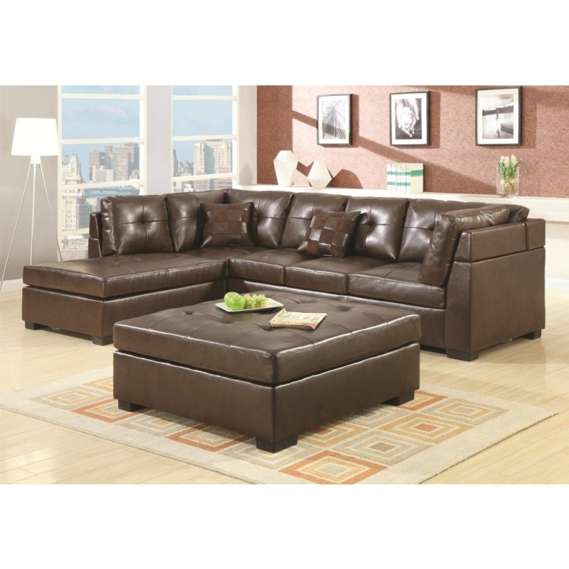 Pleasant Darie Leather Sectional Sofa With Left Side Chaise 500686 Gmtry Best Dining Table And Chair Ideas Images Gmtryco