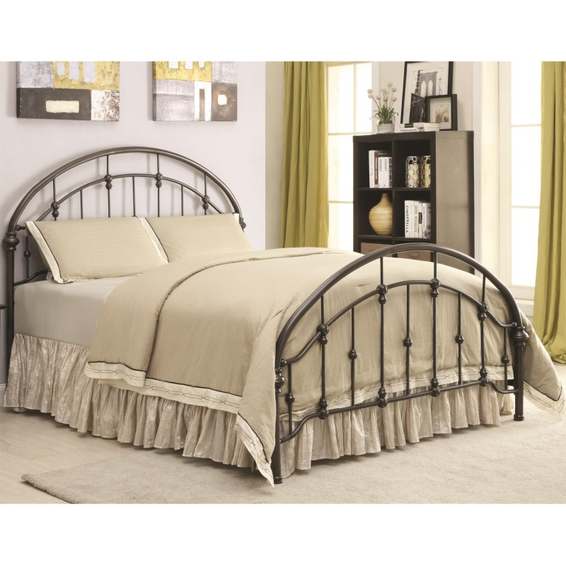 Iron Beds and Headboards Metal Curved Twin Bed