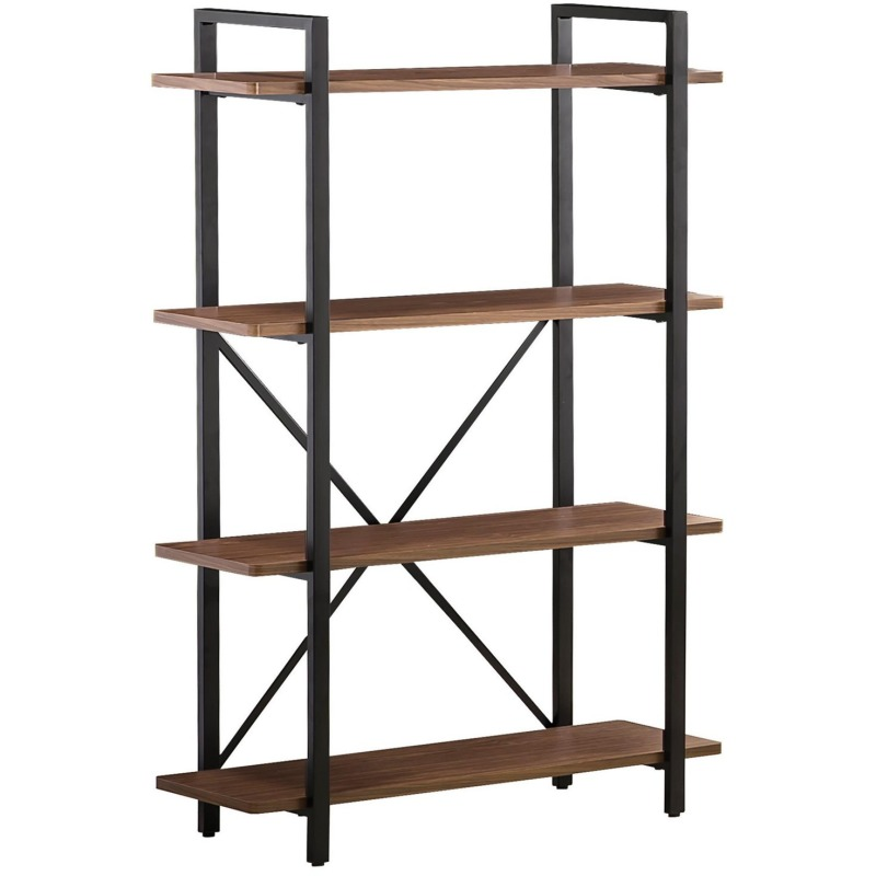 Bookcases Industrial Style Bookcase with 4 Shelves